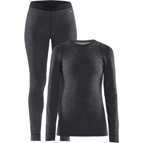 Craft Merino 180 Baselayer Set Damen black melange